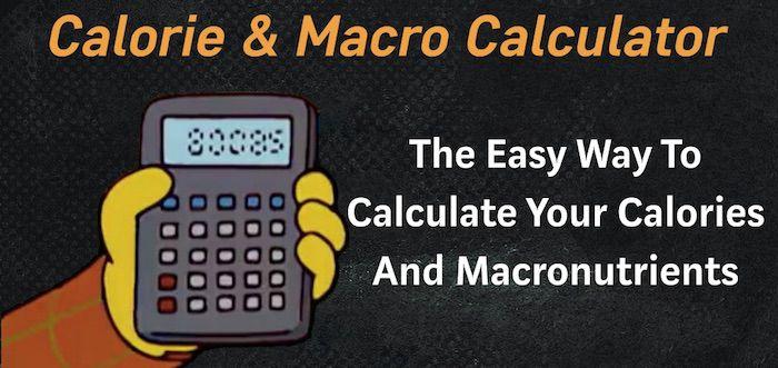 Macro calculator for fat loss